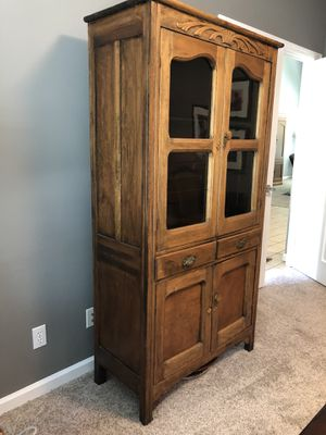 Sears & Roebuck Antique China Cabinet- original glass! for Sale in Midland, MI