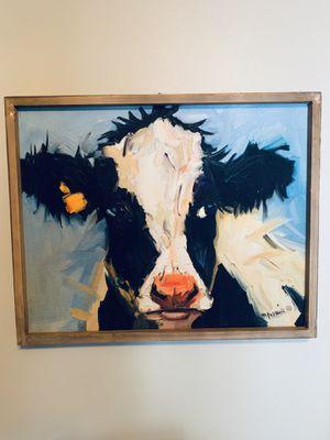 Wood Framed Canvas Cow Art for Sale in Nashville, TN
