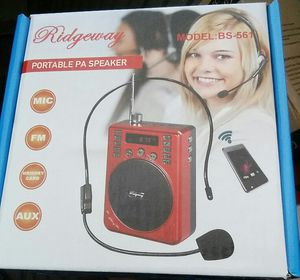 New Portable Bluetooth speaker Loud ) ) ) FM radio Thumb drive player Mini SD card player brand new in box for Sale in Bakersfield, CA