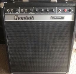 Vintage Randall Guitar or Bass Amp on caster wheels for Sale in Houston,  TX