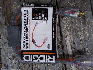 Brand new Ridgid 250v 5000watts 20A adapter with circuit breaker for Sale in Rossville, GA