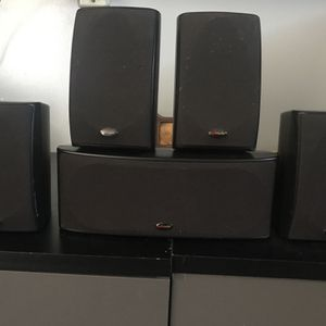 5 Polk Surround Sound Speakers + Polk Subwoofer for Sale in Long Beach, CA