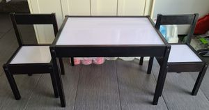 Kids Whiteboard Table with 2 Chairs for Sale in Los Angeles, CA
