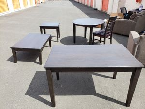 The whole table and dining set with 5 chairs for Sale in Portland, OR