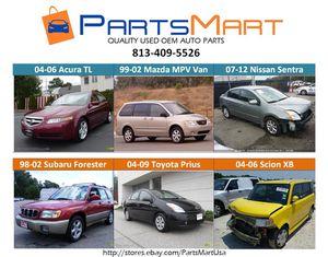 Acura TL. Mazda MPV. Nissan Sentra. Subaru Forester Scion XB Used Parts for Sale for Sale in Tampa, FL