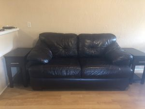 Loveseat, Chair, ottoman, end tables, lamps, bedroom set all wood, bookshelves, 55 inch tv, tv stand for Sale in Ocoee, FL