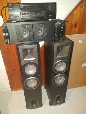 Bose Premium Surround System, 2 towers, 1 subwoofer, Jensen digital receiver for Sale in Detroit, MI