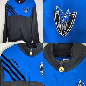 adidas dallas mavs mavericks vintage alternate logo blue black full zip sweater jacket RARE size L for Sale in Euless, TX