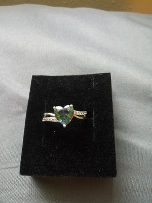 Gorgeous mermaid stone size 7 ring for Sale in Cedar Rapids, IA