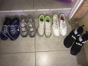 Nike's, Reebok (LEFT TO RIGHT) $80 For ALL for Sale in San Leandro, CA