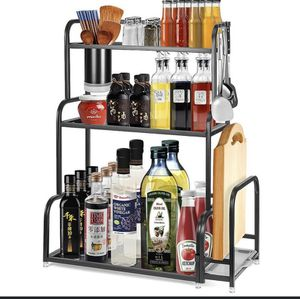 3 Tier Spice Rack Stain3 Tier Spice Rack Stainless Steel Countertop Organizer Kitchen Cabinet Shelf for Sale in Levittown, NY