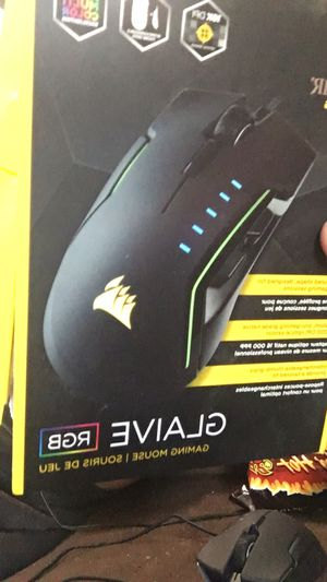 CORSAIR GLAIVE - RGB Gaming Mouse - Comfortable & Ergonomic - Interchangeable Grips - 16000 DPI Optical Sensor - Aluminum for Sale in Peoria, IL