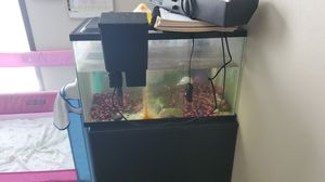 10 gal fish tank, light and filter $35 OBO for Sale in Angier, NC