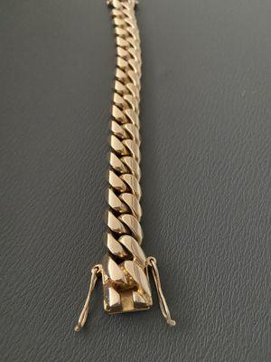 14k Cuban Bracelet Solid 152 Grams for Sale in Chicago, IL