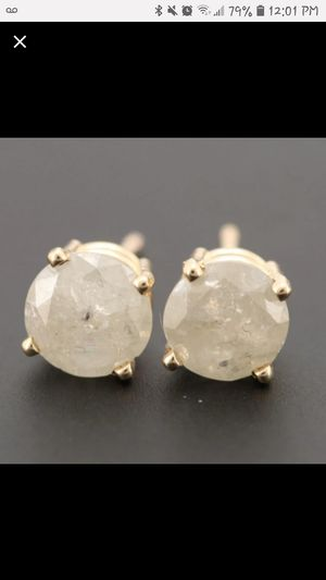 14k yellow gold diamond solitaire studs earrings for Sale in Glassport, PA