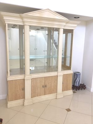 ANTIQUE DISPLAY CASE WITH STORAGE MUST GO! for Sale in Las Vegas, NV