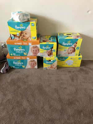 Pampers Swaddlers and baby dry for Sale in Baltimore, MD