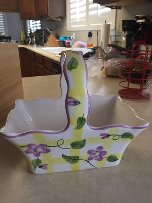 Ceramic Basket for Sale in Young, AZ