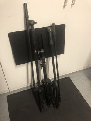 Music, guitar, and mic stands. for Sale in Spring Valley, CA