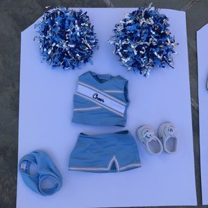 AMERICAN GIRL Retired Go Team Cheer Gear BLUE and WHITE CHEERLEADER OUTFIT for Sale in Roslyn, NY