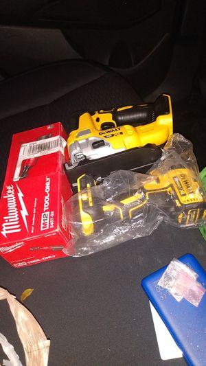 Brand new DeWalt jigsaw brand new Milwaukee 3/8 ratchet brand new 1/4 driver drill for Sale in Boynton Beach, FL