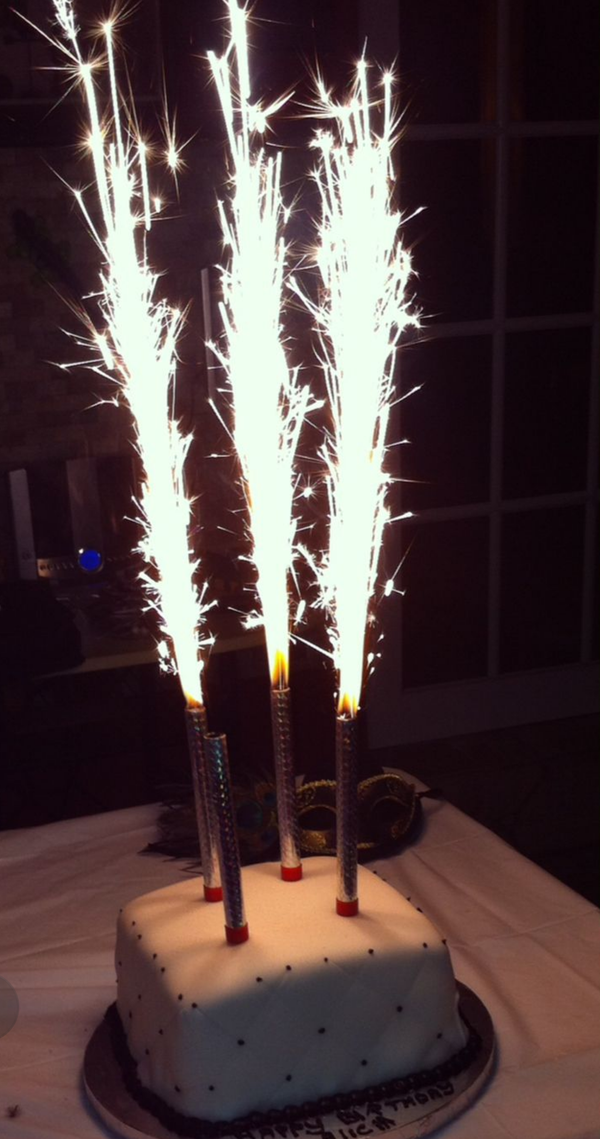 Sparkler Candles Birthday Cake Sparkling Candle