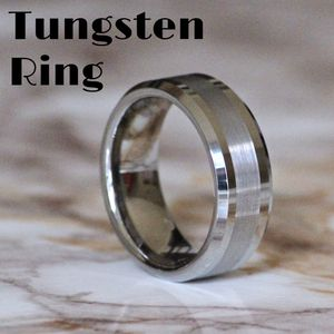 Two Tone Silver Tungsten Ring Size 7/8/9/10/11 for Sale in Fresno, CA