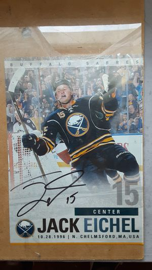Signed Buffalo Sabres Jack eichel picture pick up only !!30$ for Sale in Buffalo, NY