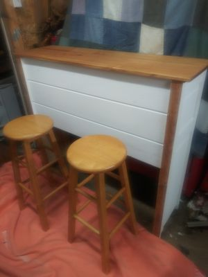 Nice hand made bar with two stools for Sale in Montandon, PA