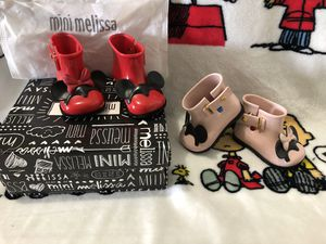 Mini Melissa Shoes Mickey & Minnie Mouse: Size 5 Toddler ( Two for $40.00 ) for Sale in Miami, FL