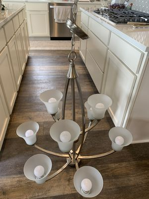 Seagull Metcalf nine-light Chandelier. Brushed Nickel finish for Sale in Austin, TX