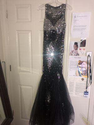 Black jeweled mermaid style prom dress for Sale in Woodbridge, VA