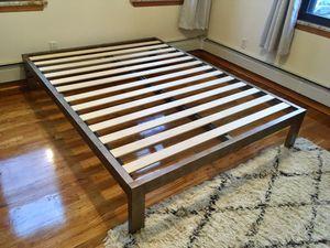CAN DELIVER! Designer Keetsa gold brushed bed frame for Sale in Brooklyn, NY