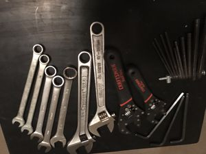Various sizes of Crescent and open end wrenches as well as different size Allen keys for Sale in Chicago, IL
