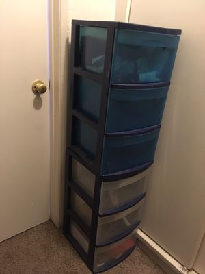 Blue storage plastic drawers for Sale in Tustin, CA