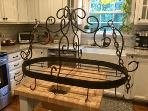 Wrought iron hanging pot rack, old for Sale in Oakton, VA