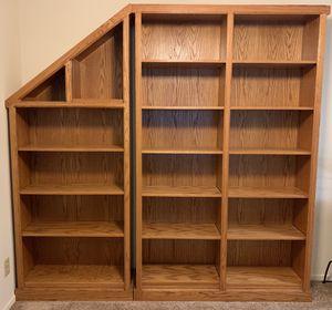 Custom made OAK Bookshelves, Dining Table, Chair for Sale in Hemet, CA