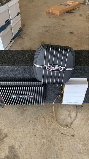 Kicker zx460 -Fosgate punch 100- Pioneer GM-x325 for Sale in Lilburn, GA