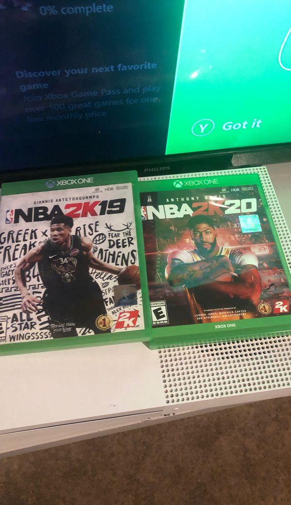 Xbox one s nba 2k19 nba 2k20 3month gold live membership