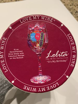 Lolita collectible painted wine glass for Sale in Livermore, CA