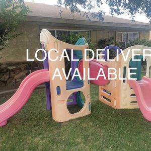 little tikes playhouse playground climber with kids slides for Sale in Fontana, CA