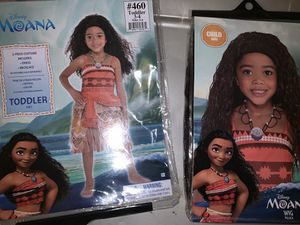 Toddler 3/4 Moana W/ Wig for Sale in Ontario, CA