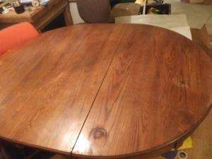 Kitchen table with leaf no chairs for Sale in Tulsa, OK