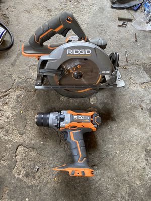 🛠 RIDGID 18V GEN 5X BRUSHLESS CIRCULAR SAW AND COMPACT HAMMER DRILL 🛠 for Sale in Carson, CA