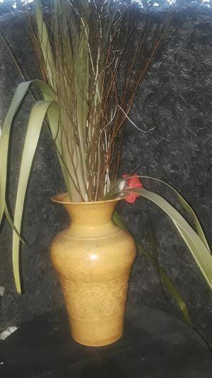 Metal yellow flower vase for Sale in Falls Church, VA