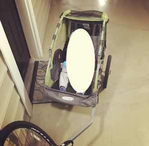 Bike trailer kids - Pacific Cycle (used only twice) for Sale in Alexandria, VA