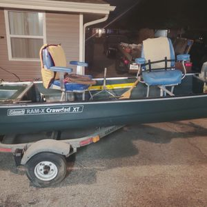 Coleman Bass Boat With Trailer for Sale in Joliet, IL