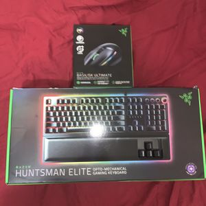 Razer Huntsman Elite + Razors Basilisk Ultimate W/ Charging Stand Combo for Sale in Fort Worth, TX