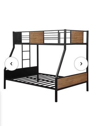 Bunk bed twin over full size bed no mattress included for Sale in Rialto, CA