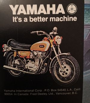 Original Yamaha motorcycle advertisement for Sale in Coto de Caza, CA